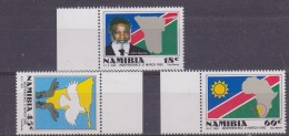 Namibia 1990 Independence 3v ** Mnh (32839) - Namibië (1990- ...)