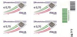 Cb 1374 Quartina :BUSTA CHE VOLA Euro 0.70 (2013) - 6. 1946-.. Repubblica