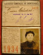 URUGUAY 1934 - MONTEVIDEO SOCIETE COMMERCIALE - SOCIEDAD COMERCIAL DE MONTEVIDEO - Zonder Classificatie
