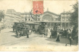 (75) PARIS : La Gare De L'Est (animée) - Metro, Estaciones