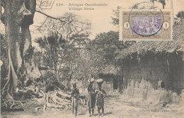 D26410 CARTE MAXIMUM CARD RR 1926 SENEGAL - LOCAL HOUSES SHEDS WOLOF VILLAGE ORIGINAL - Architecture