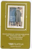 """TESSERA FILATELICA - ITALIA - ANNO 1999 - FRANCOBOLLO COMMEMORATIVO DEI """"RAGAZZI DEL '99 - NEL CENTENARIO DELLA NASCITA - 6. 1946-.. Repubblica"""