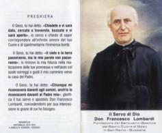 Sanremo Bussana - Santino Depliant SERVO DI DIO DON FRANCESCO LOMBARDI - OTTIMO N8 - Religione & Esoterismo