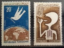 MOR Tunisia 1963 Mi. 620/621 Complete Set 2v. MNH - Against The Hunger - Tunisie (1956-...)