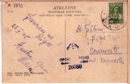 USSR(Latvia),1945, PC From Riga With Censorship Cancel No 26080.