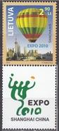 2010 - LITUANIA / LITHUANIA - EXPO SHANGAI. MNH