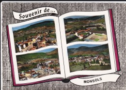 CPSM   Souvenir De.... MONSOLS 69 - Altri Comuni
