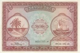 MALDIVES 10 RUFIYAA 1947 (1948) P-5a UNC RARE  [ MV105a ] - Maldives