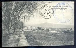 Cpa Du 84  Carpentras Vue Panoramique Du Ventoux Prise De La Promenade Des Platanes Cachet Tirailleurs Indigènes   JIP27 - Carpentras