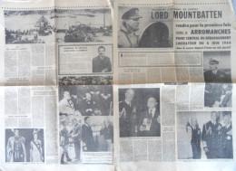 Journal 1973 Lord Mountbatten Royal Navy Arromanches Débarquement D Day 1944 - Journaux - Quotidiens