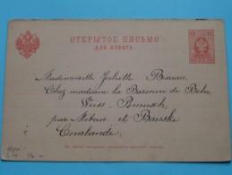 Gele Briefkaart Carte Postale Eastern Europe Courlande : Anno +/- 1897 ( See Photo Details ) !! - Russie