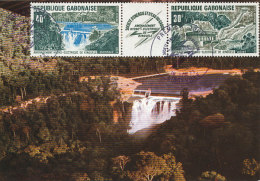 D26433 CARTE MAXIMUM CARD 1973 GABON - BARRAGE HYDRO-ELECTRIQUE CP ORIGINAL