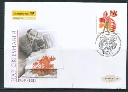 GERMANY Mi. Nr. 2722 100. Geburtstag Von HAP Grieshaber - FDC - FDC: Enveloppes