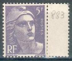 France - 1951 - Marianne De Gandon 5 F. Violet - Y&T N° 883 **  Neuf Luxe 1er Choix (gomme D´origine Intacte).