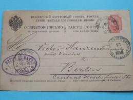 Gele Briefkaart Carte Postale Eastern Europe (?) : Anno 1894 Berlin Moritz Heimann LOTZ Stamp ( See Photo Details ) !! - Russie