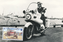 D26442 CARTE MAXIMUM CARD 1980 GUERNSEY - GUERNSEY POLICE ON MOTOR BIKE CP ORIGINAL - Policia – Guardia Civil