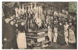 Bouchers   Des Halles  Vente Au Détail  1906 - Artisanat