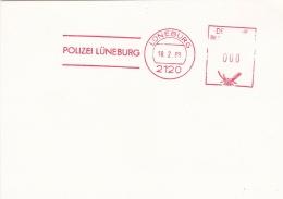 Germany Card P/m Lüneburg 1988 Polizei Lüneburg  (SKO14-11C) - Police - Gendarmerie