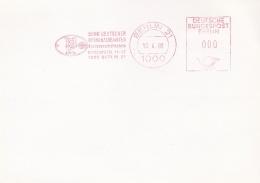 Germany Card W/Machine Cancel Berlin 1989 Bund Deutscher Kriminalbeamte  (SKO14-11B) - Politie En Rijkswacht