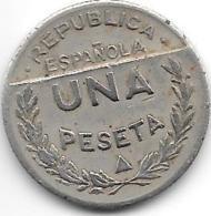 Santander-palencia-burgos 1 Peseta 1937  Km 2 - Republican Location