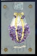Cpa Fantaisie Joyeuses  Pâques -- Carte En Celluloid  Avec Découpis  JIP27 - Ostern