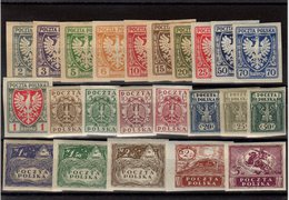 Polone _ émission De Cracovie _ Série 136/146 + 147/158  (1919 - ....-1919 Übergangsregierung