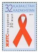 2011 - KAZAKHSTAN - LOTTA ALL´AIDS / STRUGGLE AGAINST SIDA. MNH - Ziekte
