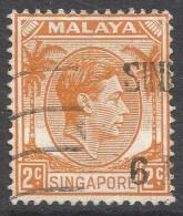 Singapore. 1948-52 KGVI P14. 2c Used. SG 2 - Singapore (...-1959)