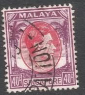 Singapore. 1948-52 KGVI P14. 40c Used. SG 11 - Singapore (...-1959)