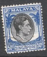 Singapore. 1948-52 KGVI P14. 50c Used. SG 12 - Singapore (...-1959)