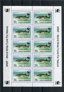 Romania 1994 WWF SHEETS(4) With FISH.MNH. - W.W.F.