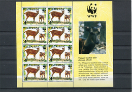 PHILLIPINES 1997 WWF  SHEET(4) With MAMMELS. MNH. - W.W.F.