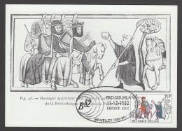 CARTE MAXIMUM DE BELGIQUE - MESSAGER DU ROI (EXPOSITION BELGICA'82) - Poste