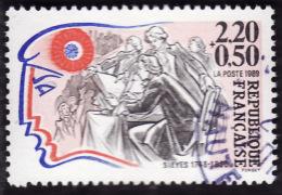 FRANCE  1989 -  Y&T  2564 -  Révolution - Sieyes  -   Oblitéré - France