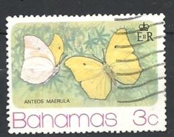 BAHAMAS  1975 Butterflies FROM S/ USED Anteos Maerula - Bahamas (1973-...)