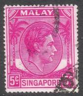 Singapore. 1948-52 KGVI P17½X18. 5c Used. SG 19a - Singapore (...-1959)