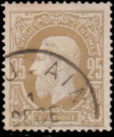 Belgique 1869. ~ YT 32 Par 3 - 25 C. Léopold 1er - 1869-1883 Léopold II