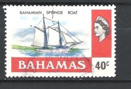 BAHAMAS     - 1976 Definitive Issue  BAHAMINA SPONGE BOAT         USED - Bahamas (1973-...)