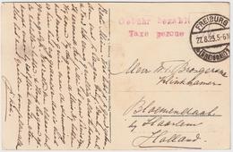 "1923, Gebühr Bez. Taxe Perceue ""  #6304 - Briefe U. Dokumente"