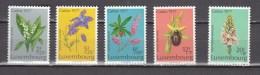 Luxembourg 1977,5V,set,flowers,bloemen,blumen,fleurs,flores,fiori,MNH/Postfris(A2877) - Planten
