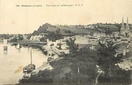 - Depts Div-ref LL162- Gironde - Branne - Panorama Sur La Dordogne - Port Et Pont - Carte Bon Etat - - France