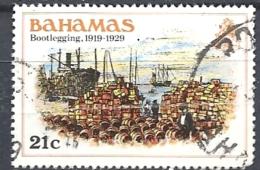 BAHAMAS     -  1980 History Of The Bahamas  BOOTLEGGING ,1919-1929    USED HAS A FOLD - Bahamas (1973-...)