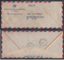 Congo  U.N. Forces Indian Cintingent  FPO No. 660  Leopoldville Free FRank Envelope  To New Delhi  # 91491  Inde  Indien - Congo - Brazzaville