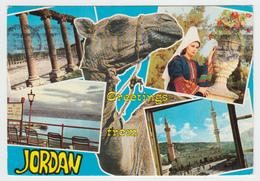 Greetings From Jordan Jordanie - MultiViews - Mailed In 1976 To Charlebourg Québec - By Terra Sancta - 2 Scans