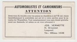 Buvard Ancien - Old Blotter - Publicité Advertisement - Automobile Camion - Jos Vermette Longueuil Québec - 2 Scans - Automotive