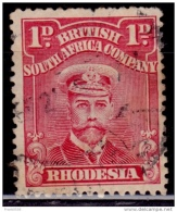 Rhodesia 1913-23, King George V, 1p, Scott# 120b, Used - Great Britain (former Colonies & Protectorates)