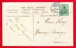Cachet  Grosz-Moyeuvre ( Moyeuvre-Grande) Du 14.12.1907 Sur CP Femme . Poissons D'avril - Marcophilie (Lettres)