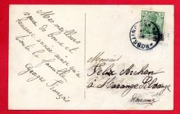 Cachet  Rosslingen ( Rosselange)  Du 04.01.1905 Sur CP Femme . Bonne Année - Marcophilie (Lettres)