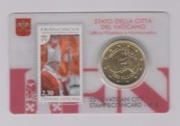 Coin Vatican City - Vaticaan - Vaticano 0.50 Euro 2015 UNC Stamp & Coin Card Nr. 8 Pope Franciscus - Vaticaanstad