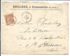 AMBULANT DE DIJON à LYON SUR LETTRE DU 24/7/1903 - Marcophilie (Lettres)
